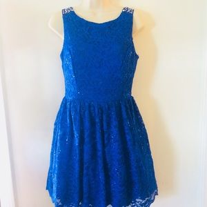 Electric blue cocktail dress